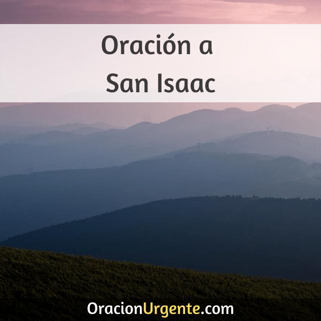 Oracion a san isaac